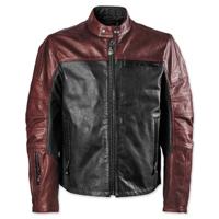 Roland Sands Design Men's Ronin Black/Oxblood Leather Jacket