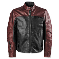 Roland Sands Design Men's Ronin Black/Oxblood Leather Jacket