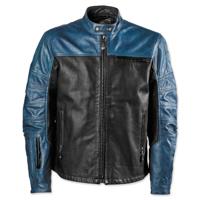 Roland Sands Design Men's Ronin Black/Steel Leather Jacket