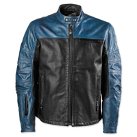 Roland Sands Design Men's Ronin Black/Steel Leather Jacket