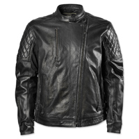 RSD Apparel Men's Clash Black Perforated Leather Jacket