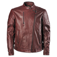 RSD Apparel Men's Clash Oxblood Perforated Leather Jacket