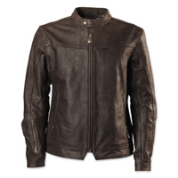RSD Apparel Men's Walker Brown Perforated Leather Jacket