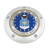 Custom Engraving Ltd. Air Force Seal Derby Cover