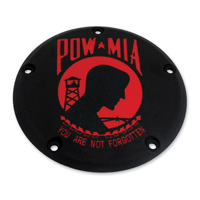 Custom Engraving Ltd. Black Wrinkle & Red POW Derby Cover