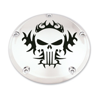 Custom Engraving Ltd. Tribal Skull Derby Cover