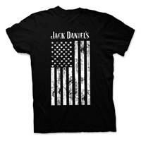 Jack Daniel's Men's JD Flag Black T-Shirt