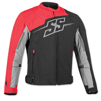 Speed and Strength Men's Hammer Down Black/Red Textile Jacket