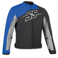 Speed and Strength Men's Hammer Down Black/Blue Textile Jacket