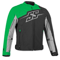 Speed and Strength Men's Hammer Down Black/Green Textile Jacket