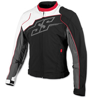 Speed and Strength Men's Hammer Down Black/Red/White Textile Jacket
