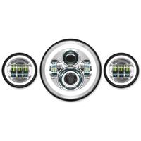 HogWorkz LED Chrome HaloMaker Headlight Kit