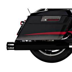 Rinehart Racing Moto Series 4″ Slip-ons Black with Black Slot End Caps