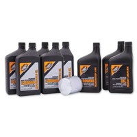 Milwaukee Twins Complete Oil Change Kit with Synthetic Motor Oil