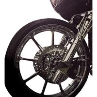 Battistinis Leading Axle Chrome Lower Fork Leg Set