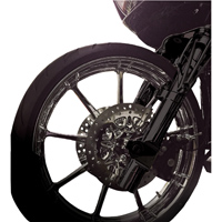 Battistinis Leading Axle Black Lower Fork Leg Set