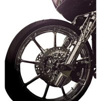 Battistinis Leading Axle Chrome Lower Fork Leg Set