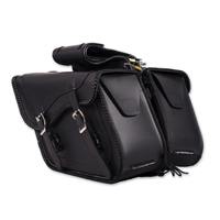 Dream Apparel Saddlebag & Accessory  Plain Throwover Zip-Off Saddlebags