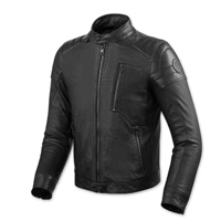 REV′IT! Men's Naples Black Leather Jacket