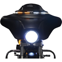 Custom Dynamics Satin Black LED Windshield Trim