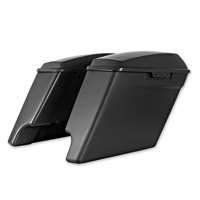 HogWorkz 4″ Unfinished Extended Saddlebags with Dual Cut Out
