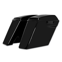 HogWorkz 4″ Vivid Black Extended Saddlebags with No Cut Out
