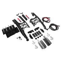HogWorkz Saddlebag Hardware Kit with Black Latch