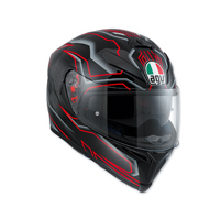 AGV K-5 S Deep Black/White/Red Full Face Helmet