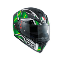 AGV K-5 S Hurricane Black/Green Full Face Helmet