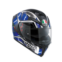 AGV K-5 S Hurricane Black/Blue Full Face Helmet