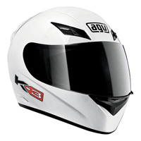AGV K-3 White Full Face Helmet
