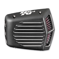 K&N Street Metal Air Cleaner Intake System Shaker Black