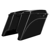 HogWorkz 4″ Extended Saddlebag Conversion Kit with Black Brackets