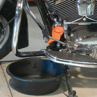 Ernst Manufacturing Greg's Oil Filter Funnel for H-D Models