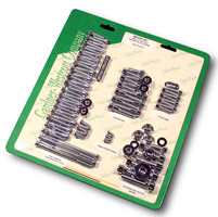 Gardner Westcott Polished Builders Fastener Kit for 4-speed Shovelhead