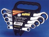 5 Piece Metric Ratcheting Box Wrench Set