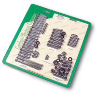 Gardner Westcott Motor Fastener Set for Panhead with Short Cover Screws