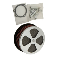 HardDrive Parts Classic 4 Spoke Air Cleaner Chrome