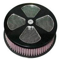 HardDrive Parts Classic 4 Spoke Air Cleaner Black