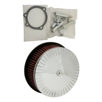 HardDrive Parts Classic Notch Air Cleaner Chrome