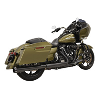 Bassani 2 into 1 Crossover Eliminator Black Megaphone Slip On