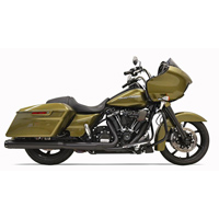 Bassani 2 into 1 Crossover Eliminator Black Straight Can Slip On