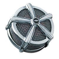 Crusher ECE Compliant Mach 2 Air Cleaner Chrome