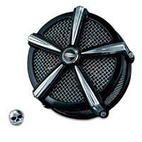 Crusher ECE Compliant Mach 2 Air Cleaner Black & Chrome