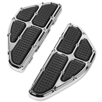 Roland Sands Design Chrome Traction Passenger Floorboards