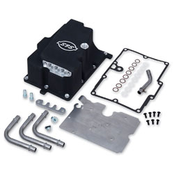 S&S Cycle Wrinkle Black Oil Supply Line Installation Kit