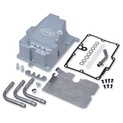 S&S Cycle Silver Oil Supply Line Installation Kit