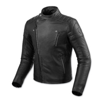 REV′IT! Men's Vaughn Black Leather Jacket