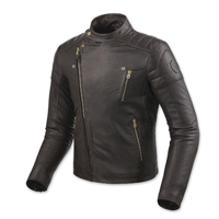 REV′IT! Men's Vaughn Dark Brown Leather Jacket