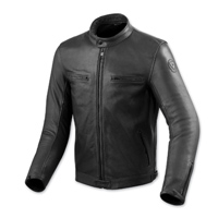 REV′IT! Men's Gibson Black Leather Jacket